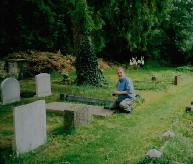 Tim at CSL grave